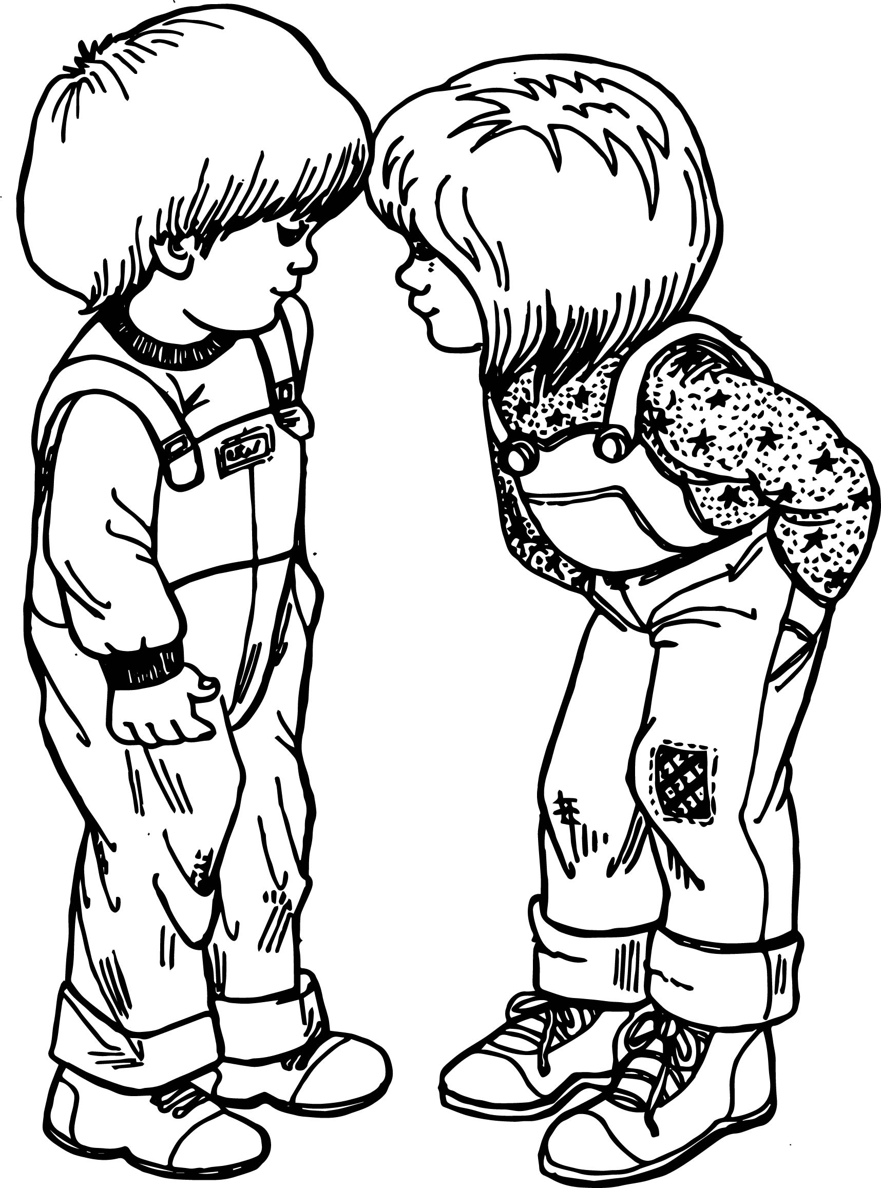 Best Friends Hello Coloring Page