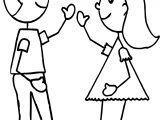 Best Friends Hi Coloring Page