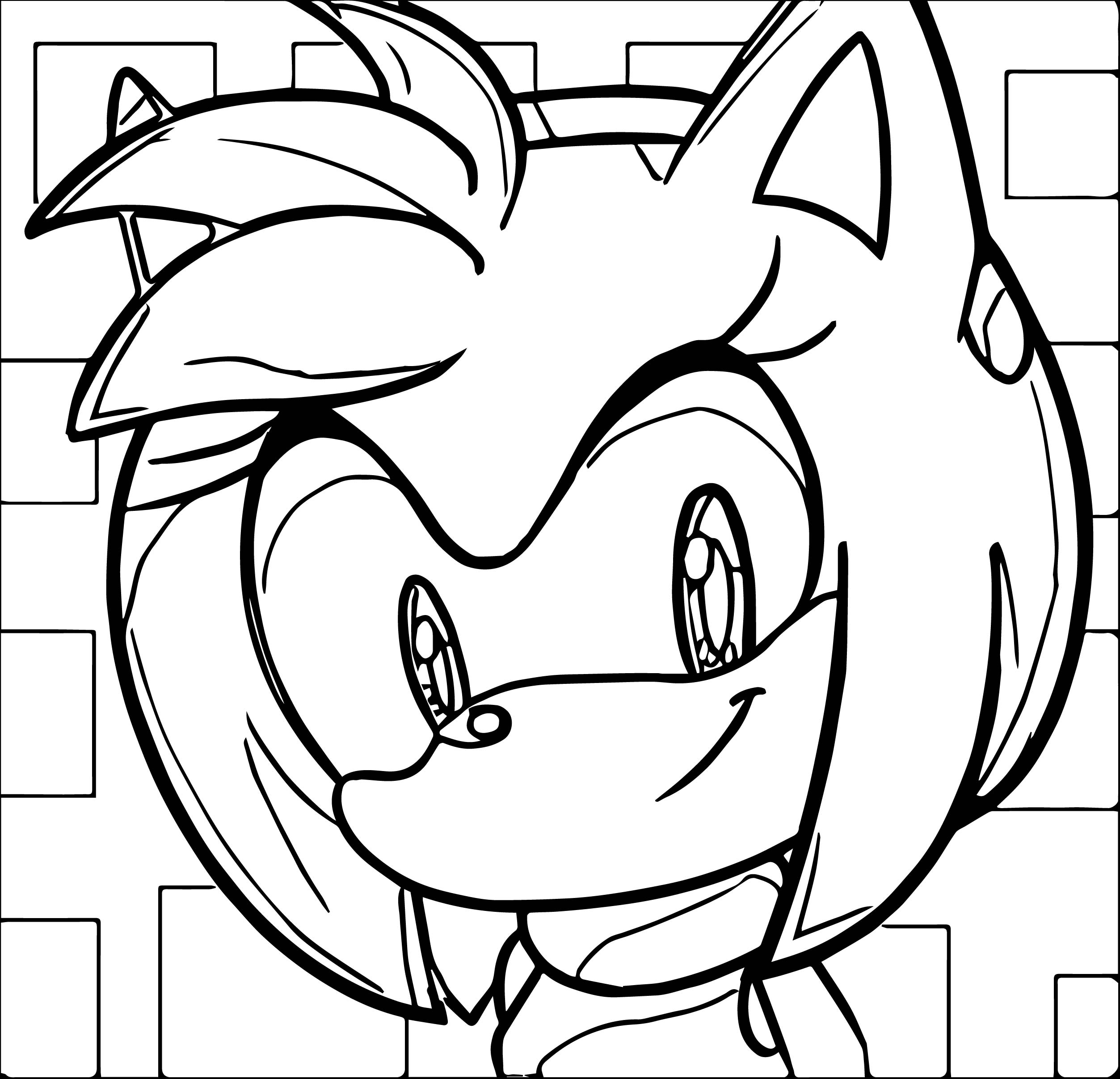 Big Amy Rose Coloring Page