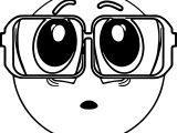 Big Eyeglasses Emoticon Coloring Page