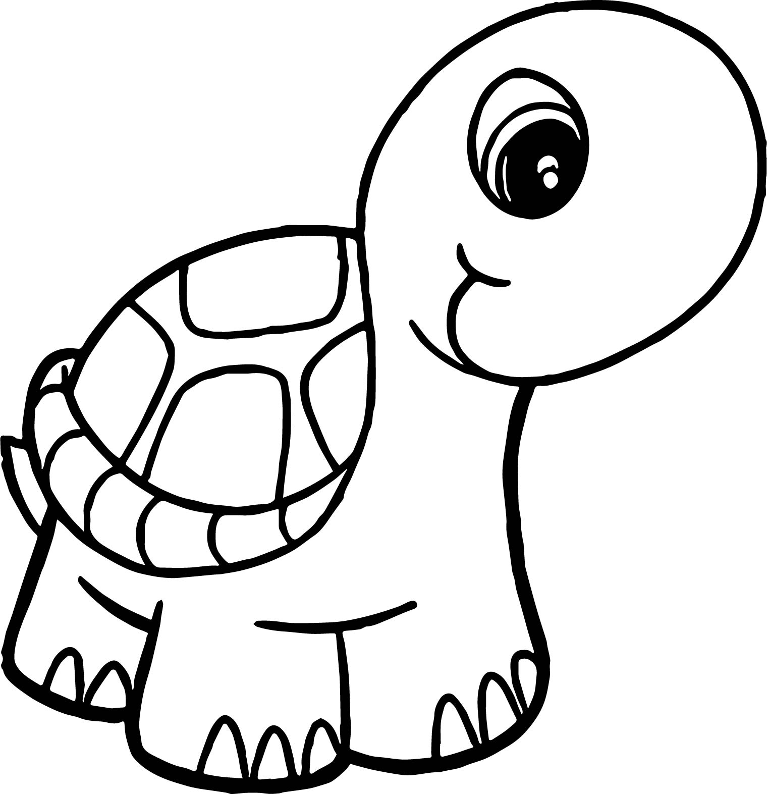 big head tortoise turtle coloring page wecoloringpage