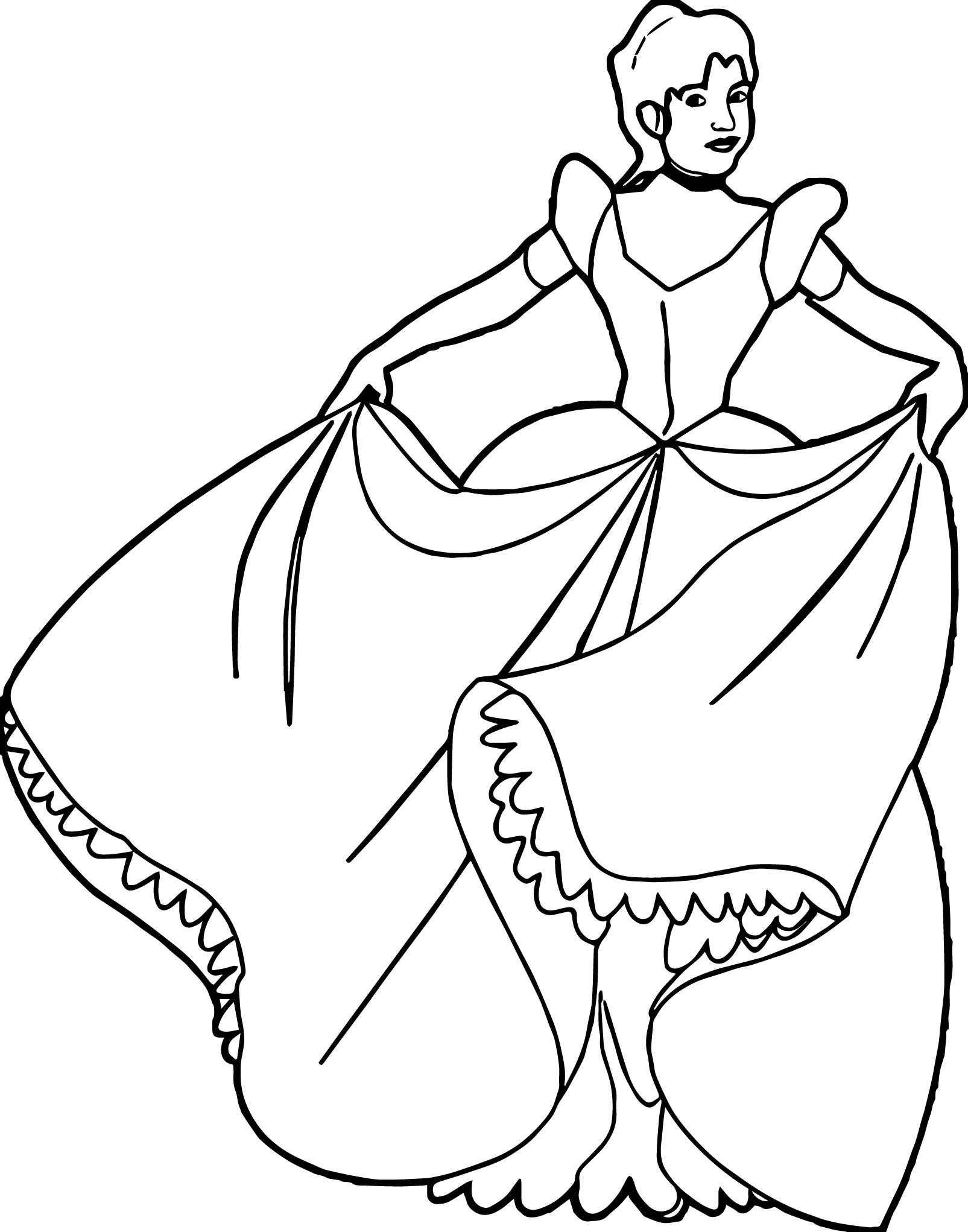 Big Real Princess Coloring Page