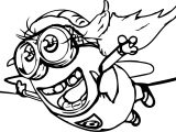 Bird Minion Fly Coloring Page