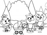 Birds Family Mom Monster Full Episodes Cartoon Coloring Page