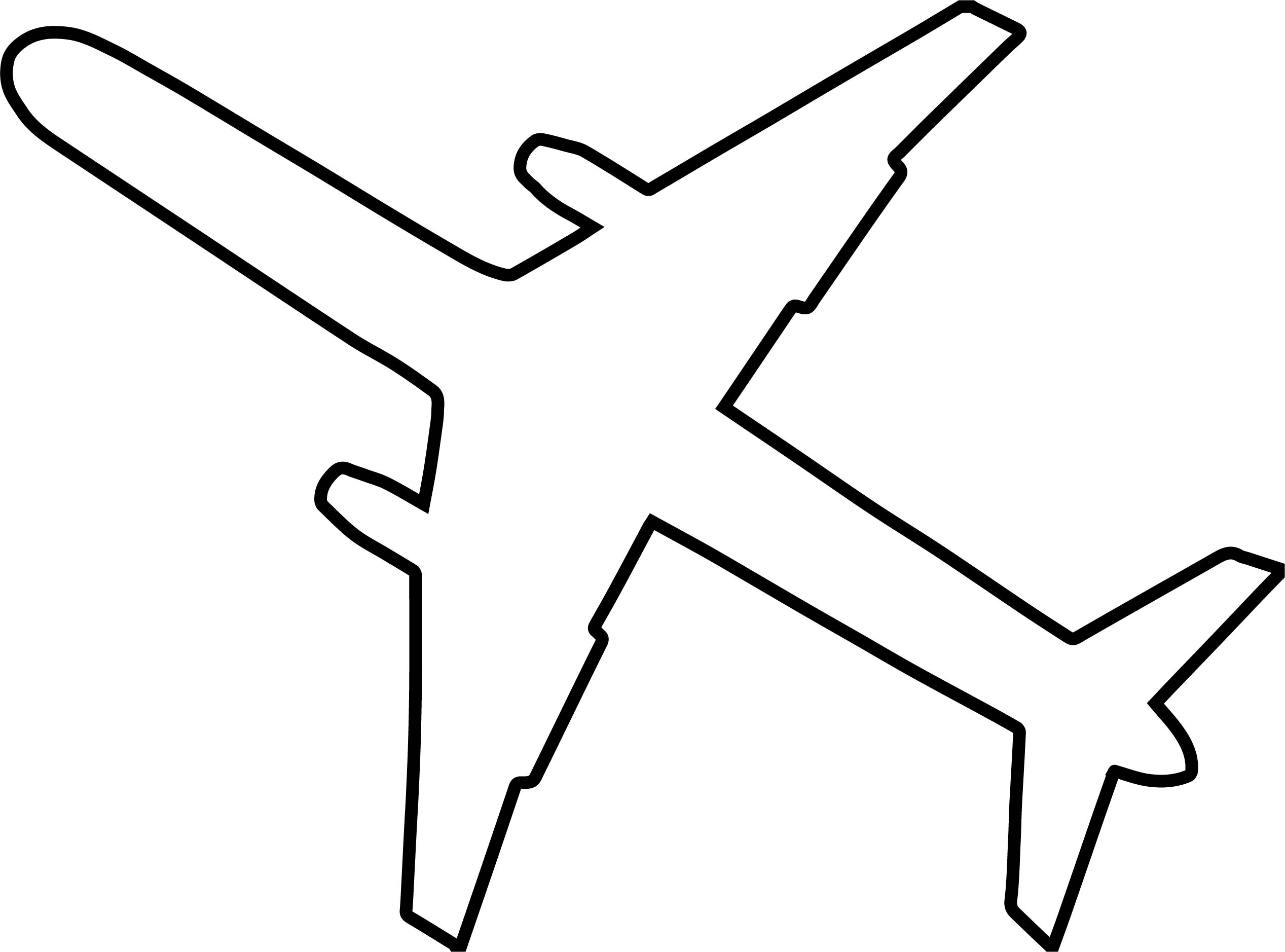 black outline airplane coloring page wecoloringpage