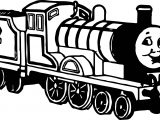 Black Side Train Coloring Page
