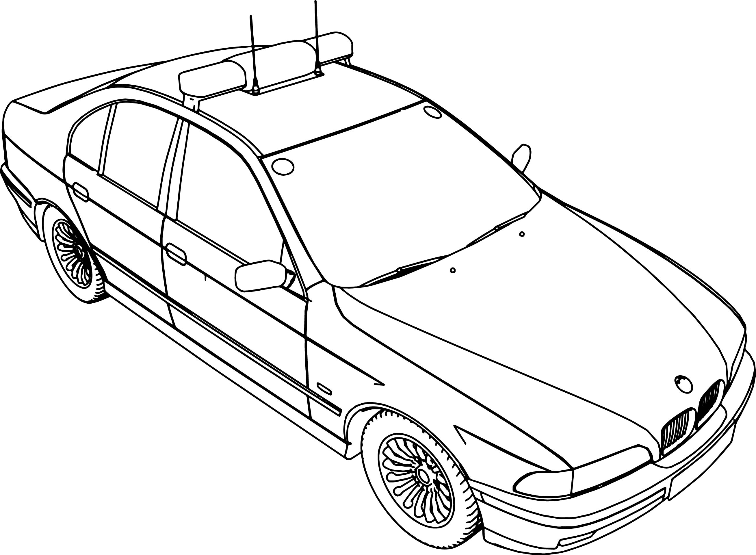 bmw 5 police car coloring page - Police Car Coloring Pages