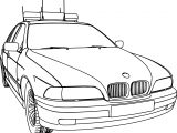 Bmw 5 Police Dpg Car Coloring Page