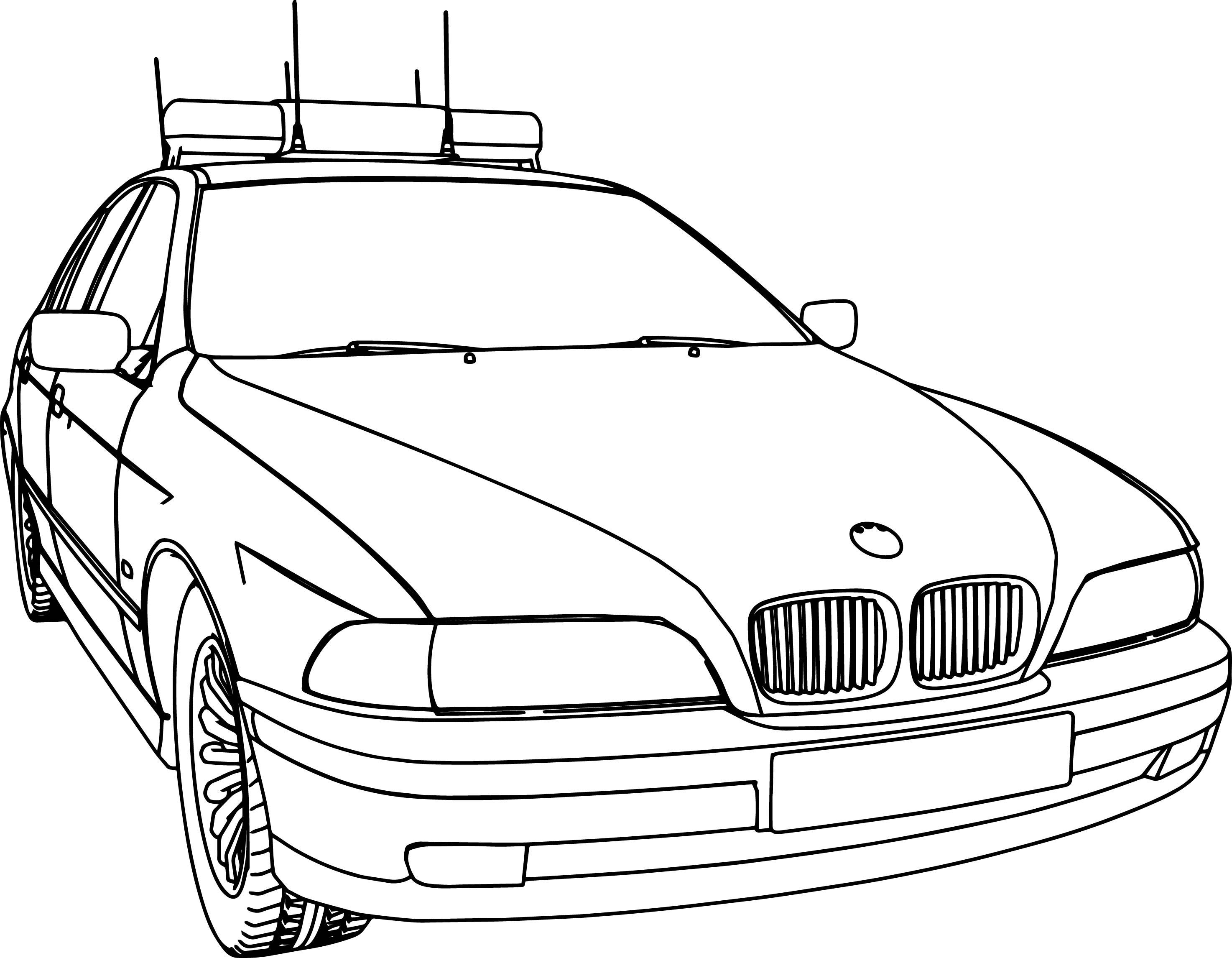 Bmw 5 Police Dpg Car Coloring Page