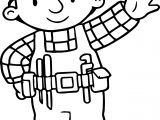 Bob The Builder Hi Coloring Page