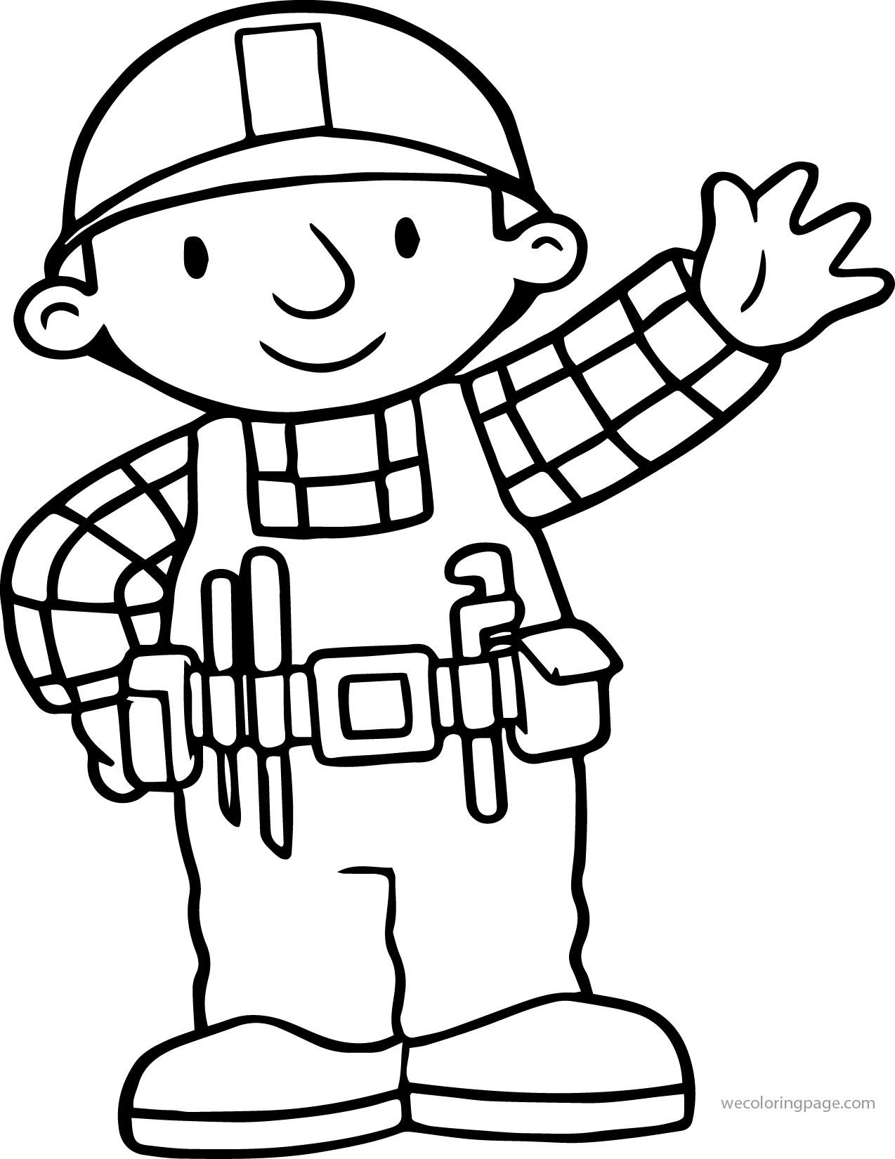 Bob The Builder Hi Coloring Page