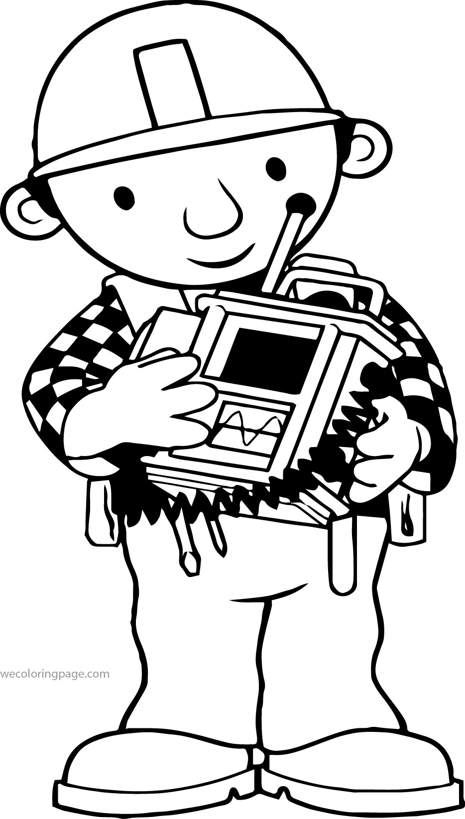 Bob The Builder Machine Coloring Page