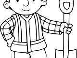 Bob The Builder Shovel Coloring Page