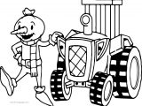 Bob The Builder Spud And Tractor Coloring Page