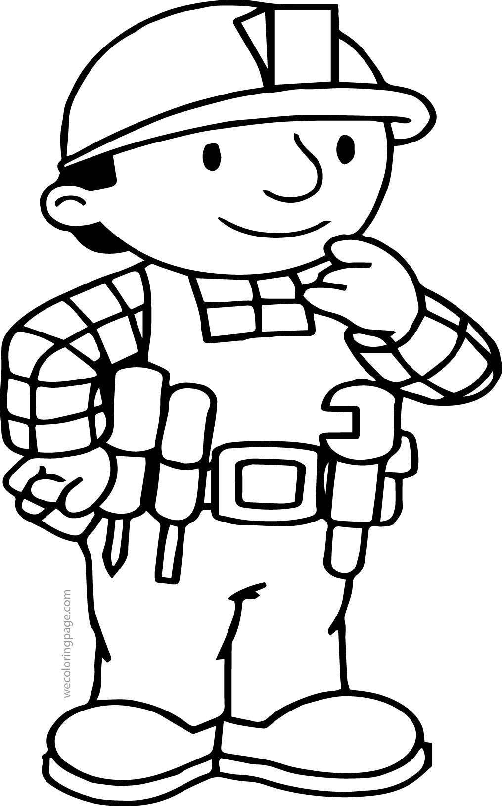 Bob The Builder Think Coloring Page