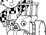 Bob The Builder Tractor Coloring Page