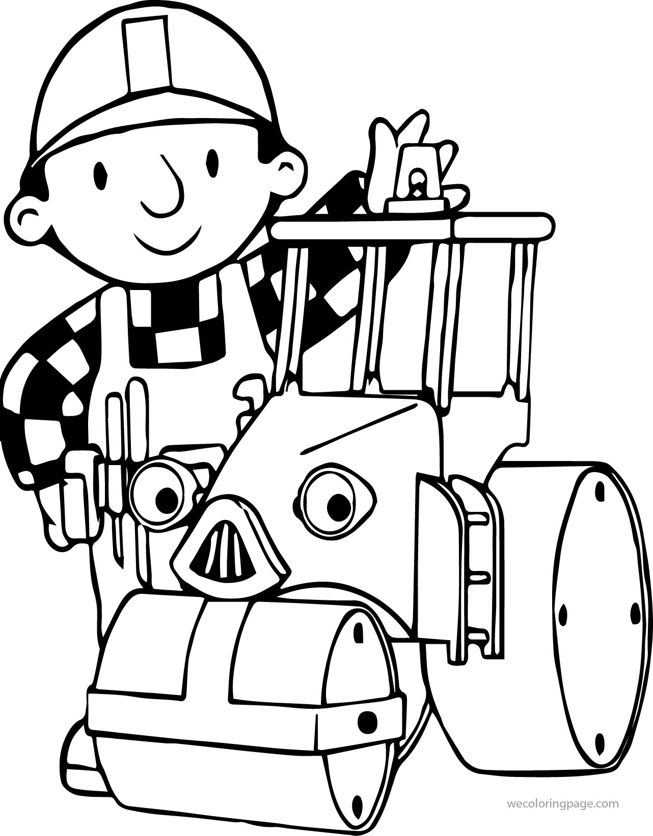 Bob The Builder Tractor Coloring Page | Wecoloringpage