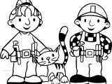 Bob The Builder Wendy Cat And Bob Coloring Page