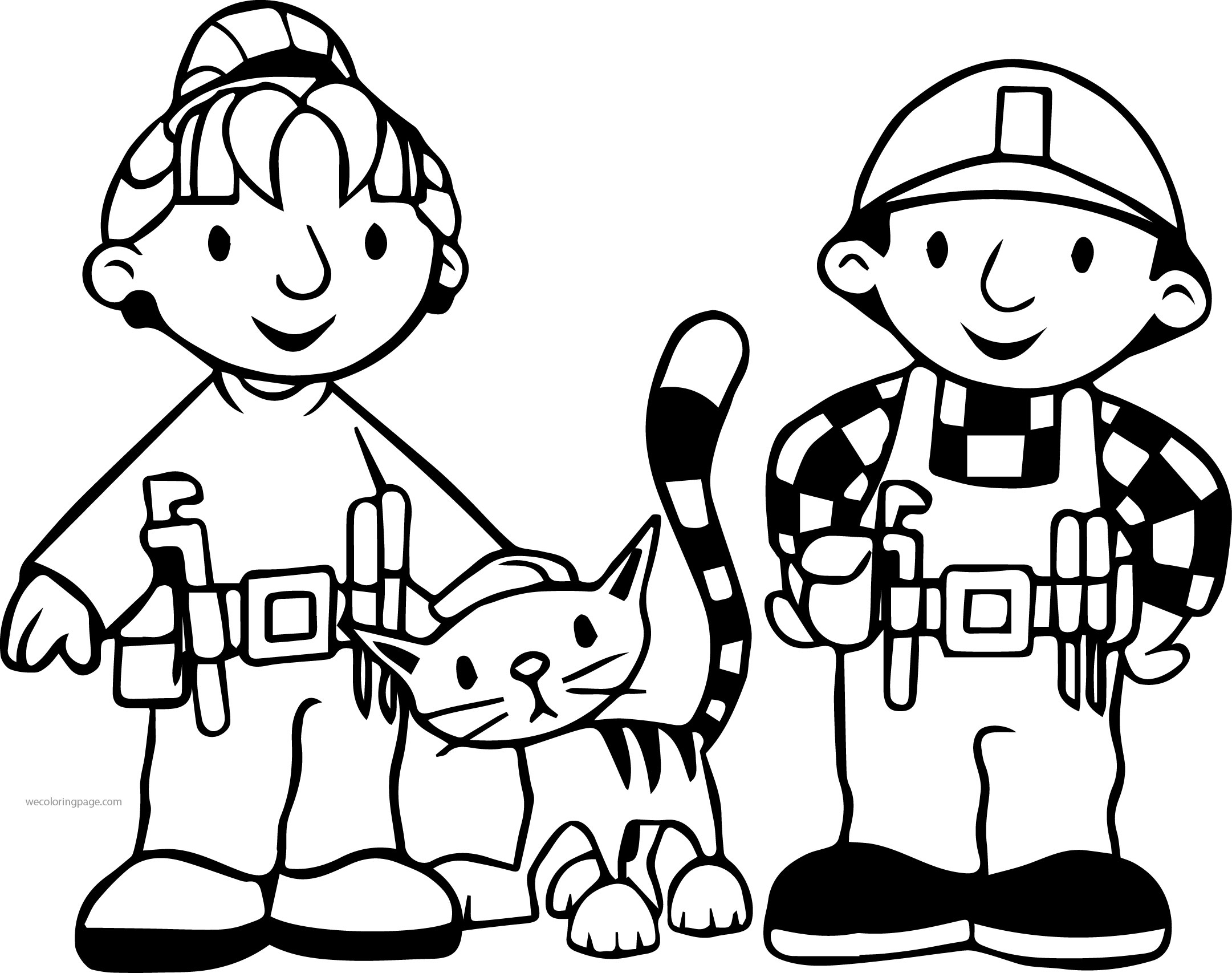 Bob The Builder Wendy Cat And Bob Coloring Page Wecoloringpage