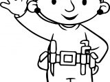 Bob The Builder Wendy Hello Coloring Page