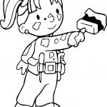 Bob The Builder Wendy Painting Coloring Page