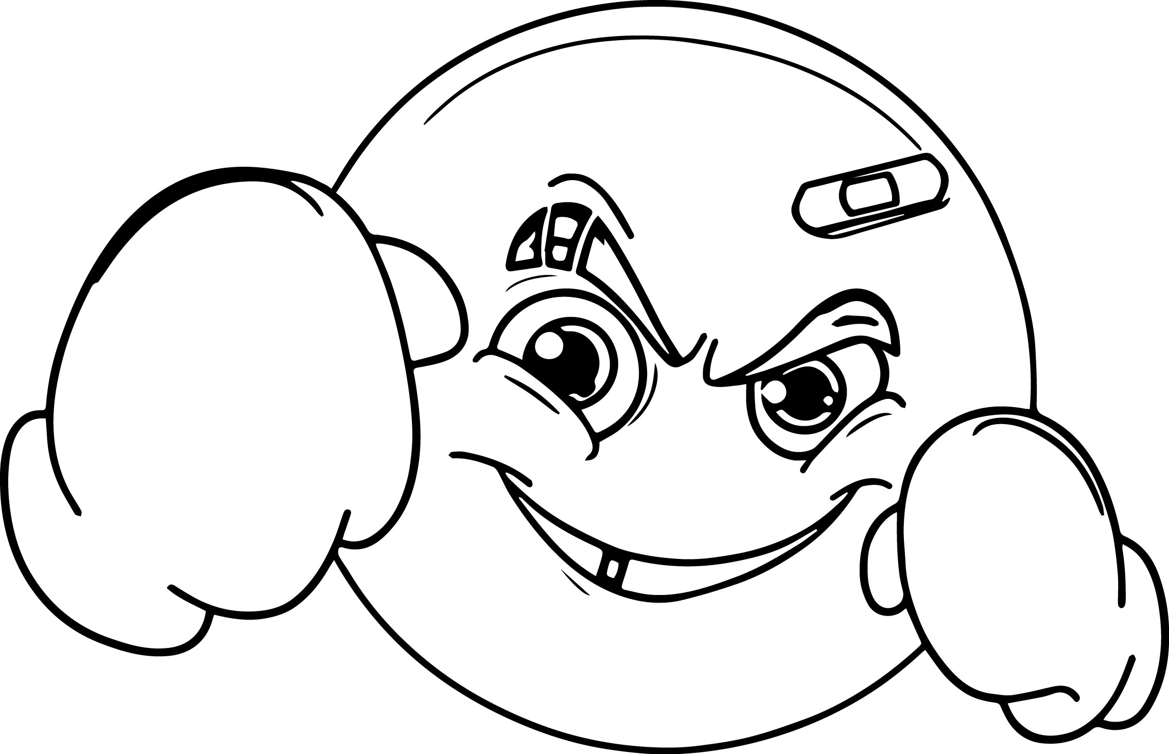 Boxer Emology Face Coloring Page