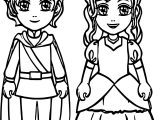 Boy Prince Girl Princess Coloring Page