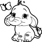 Butterfly Elephant Coloring Page
