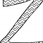 Capital Z Coloring Page
