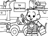 Car Repair Service Oscar Boy Coloring Page