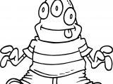 Cartoon Alien Free Coloring Page