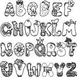 Cartoon Alphabet Set Coloring Page