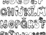 Cartoon Alphabet Set Coloring Page