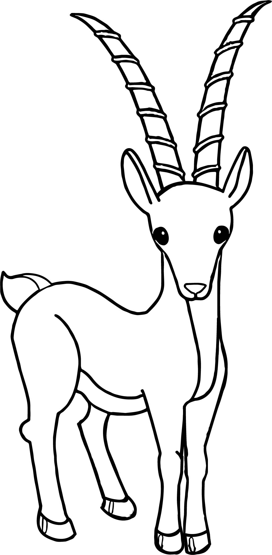 Cartoon Antelope Coloring Page