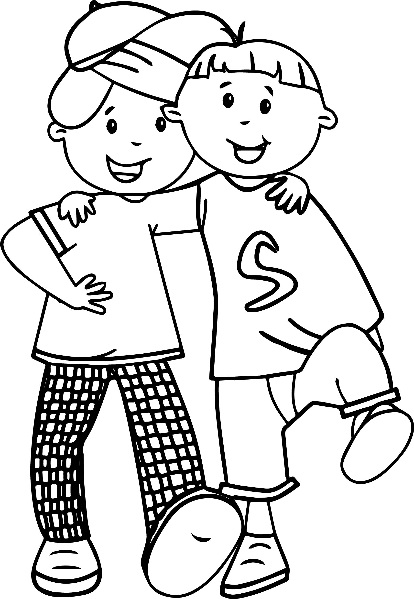 best friend for ever coloring page coloring pages best
