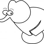 Cartoon Elephant Coloring Page