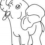 Cartoon Elephant Hose Coloring Page