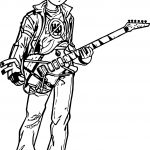 Cascao Guitar Coloring Page