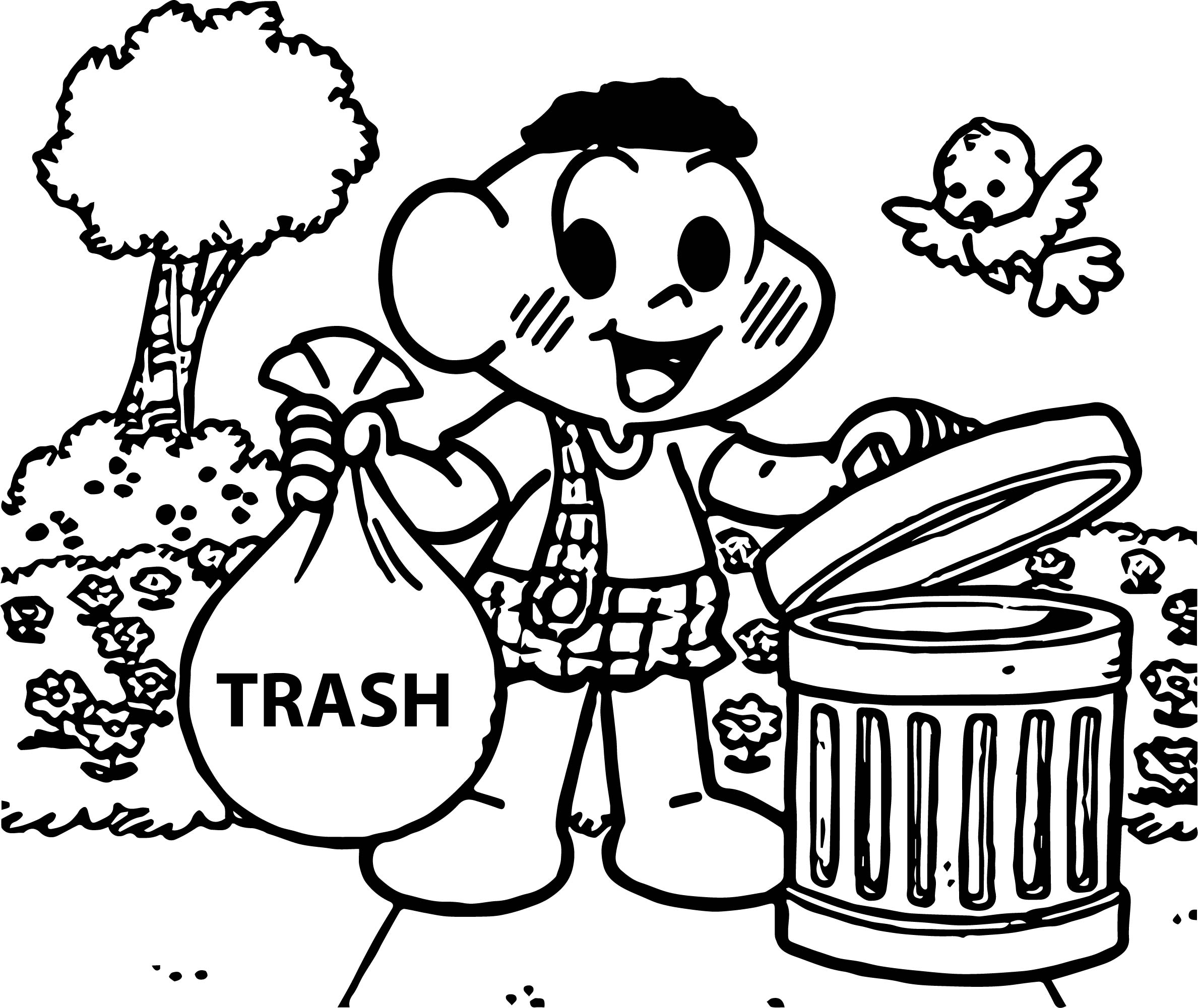 Cascao Trash Coloring Page