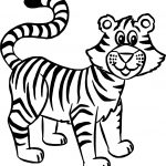 Cat Tiger Coloring Page