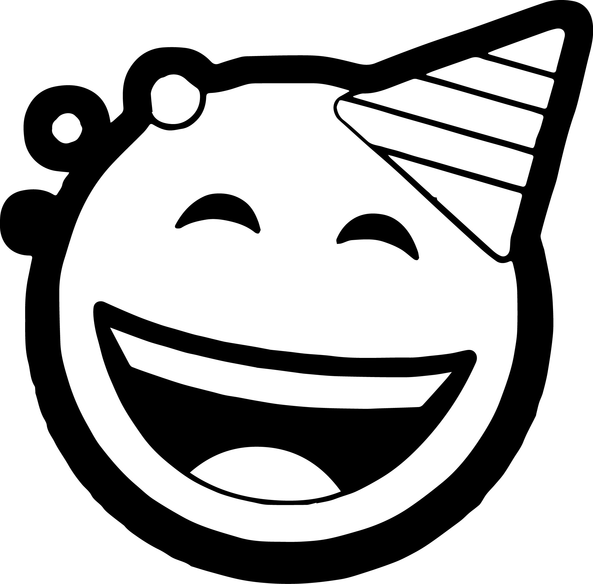 Celebration Circle Face Emoticons Coloring Page