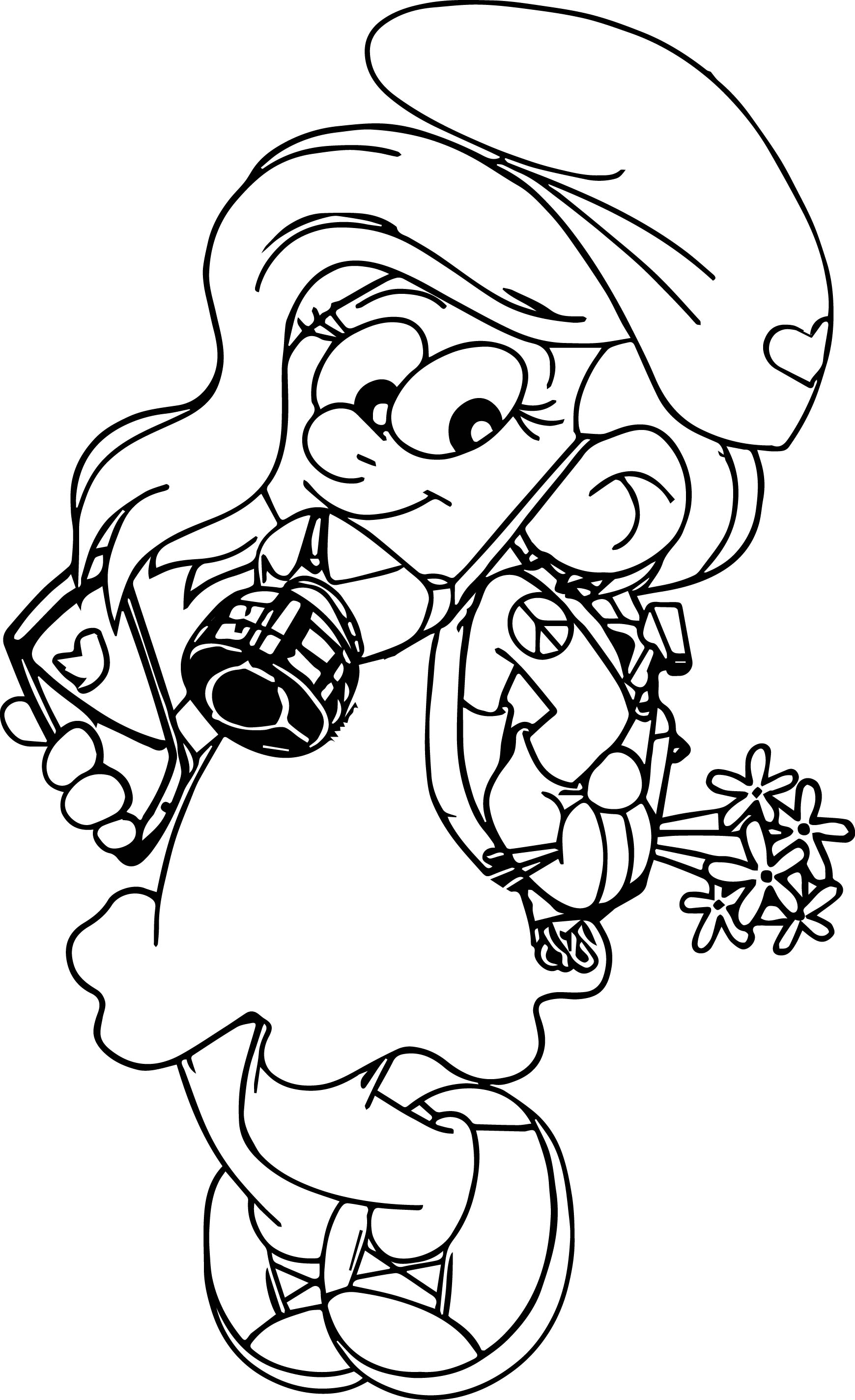 Chapuller Smurf Smurfette Coloring Page