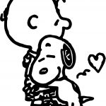 Charlie Brown And Snoopy Coloring Page