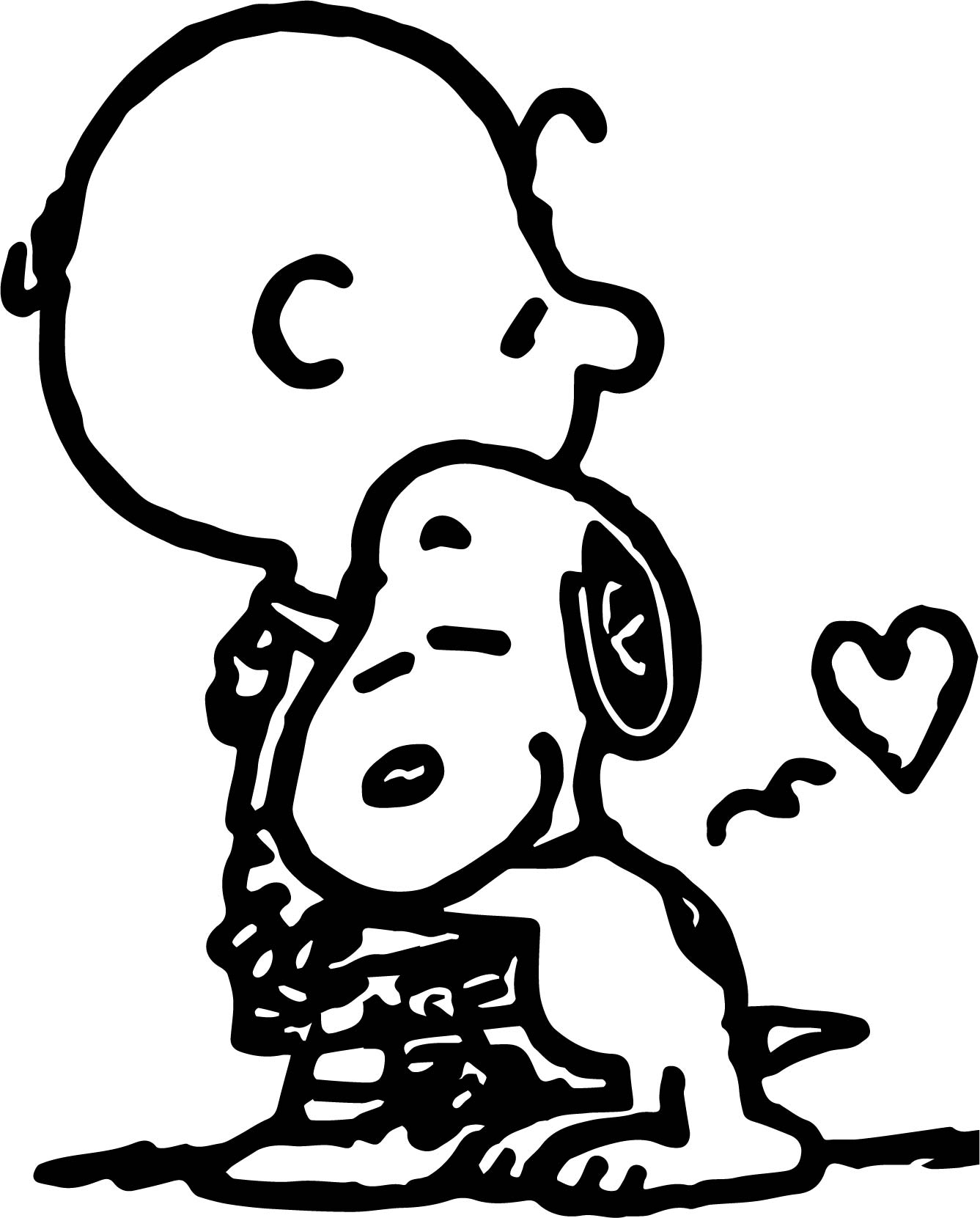 Charlie brown and snoopy coloring page for Snoopy coloring page