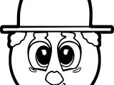 Charlie Chaplin Emoticon Face Coloring Page