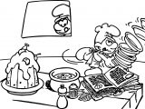 Chef Smurf Making Food Coloring Page