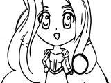 Chibi Manga Rapunzel Coloring Page