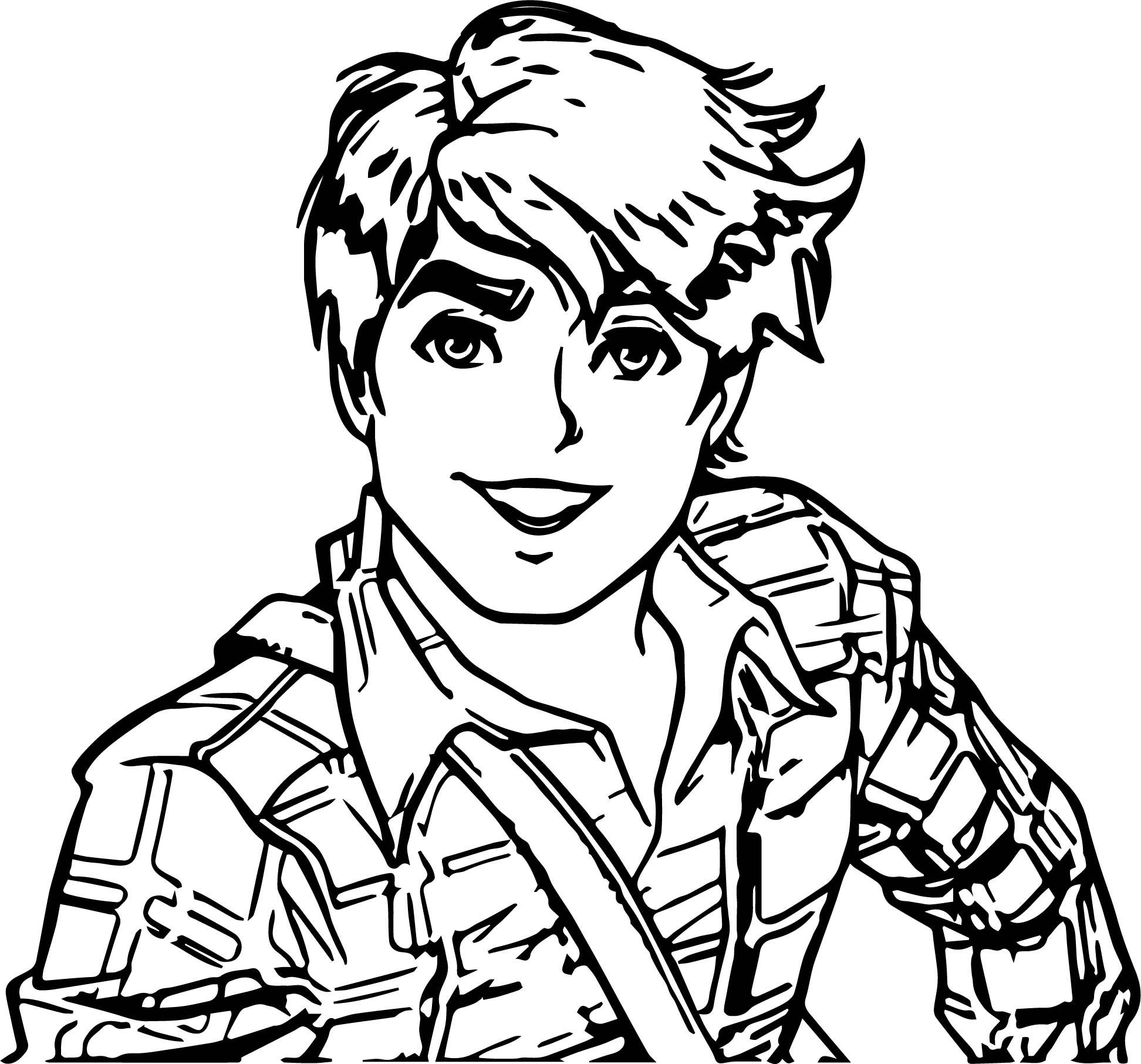 Chico Interna Boy Coloring Page