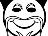 Chinese Emoticon Face Coloring Page