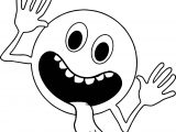 Circle Comic Funny Alien Face Coloring Page